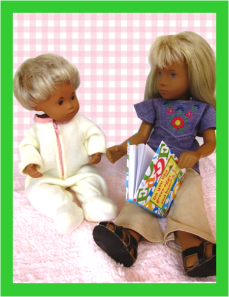 sasha reading to baby